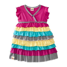 RICHU baby girl dress nb for christmas newyear gift target toddler girls tiered ruffle dress  pink 9M 18M girls cake dress