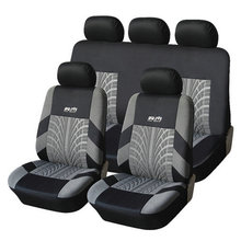 AODELAI with Tire Track Detail Seat Accessories Colour Black and Gray Hot Sale Polyester Material Universal Car Seat Cover