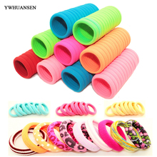 YWHUANSEN 40pcs/lot Hair Accessories for girls Scrunchies Elastic Hair Bands children decorations Headdress Gum for hair ties(China)