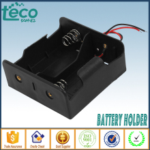 1Pcs/lot 2 D Battery holder Spring Loaded Storage Box Wired for  LR20/UM1/AM1 batteries TBH-D-2A-W