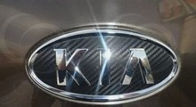 Car logo sticker three-piece (front, rear, steering wheel) for KIA SPORTAGE R 2012 2013