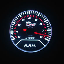 Dragon gauge 52mm High Quality Smoke Lens Car Meter Tacho Meter 0-8000 RPM Tachometer Auto Gauge White backlight Free shipping