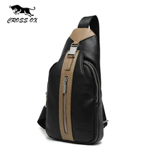 CROSS OX 2016 Winter New Arrival Genuine Leather Men's Chest Bag Shoulder Bags For Men Business Casual Fashion Travel Bag SL385M(China)