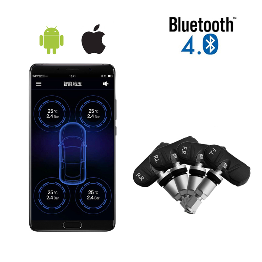 Vantrue TPMS Tire Pressure Monitor System Wireless Bluetooth Connect with Free App for Android IOS Auto Security Alarm System (1)