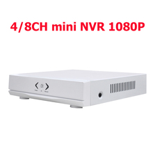 Mini NVR Full HD 4Channel 8Channel Security Receiver  IP CCTV NVR 1080P 4CH 8CH ONVIF For IP Camera System 1080P Video recorder