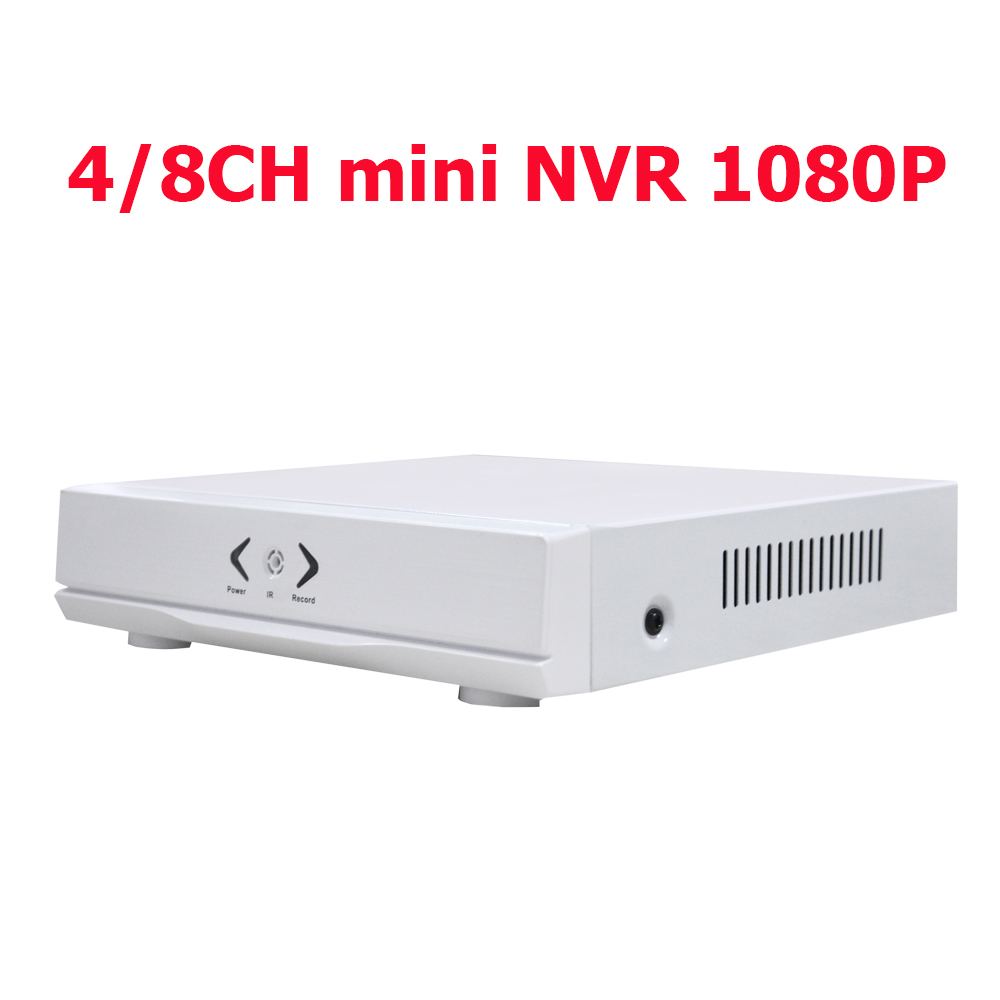 Mini NVR Full HD 4Channel 8Channel Security Receiver IP CCTV NVR 1080P 4CH 8CH ONVIF For IP Camera System 1080P Video recorder(China (Mainland))