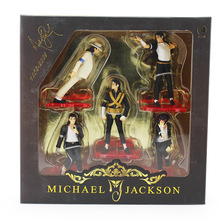 High Quality New Cool Michael Jackson ICON PVC Figure Jackson Figures Toy Collectable Model Toys Set of 5 PCS Free Shipping