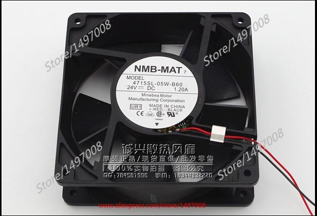 NMB-MAT 4715SL-05W-B60, UR1  DC 24V 1.20A   120x120x38mm Server Square fan<br>