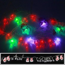 4M/20LED AC110V~220V Colorful Merry Christmas LED String Light Santa Claus Snowman Fairy Light for Holiday Party Home Decoration(China)