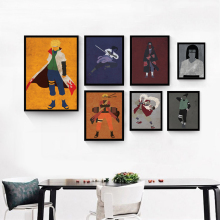 Modern Simple Retro Naruto Japanese Anime Cartoon Canvas Painting Art Print Poster Picture Wall Children's Bedroom Decoration(China)