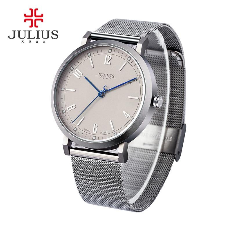 New Julius Mens Homme Wristwatch Lovers Fashion Hours Dress Bracelet Stainless Steel Business Boy Birthday Valentine Gift<br><br>Aliexpress