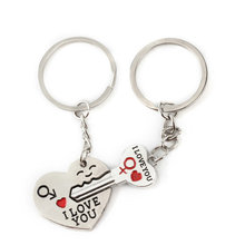 llavero pareja Casual Chaveiro Couple I LOVEYOU Heart Car Keychain Keyring Key Chain Lover Novelty souvenirs Gift top quality