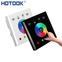 HOTOOK RGB RGBW LED Controller Touch Panel Wall Mounted Color Changable Switch For DC12-24V LED Strip Light Home lamp Lighting(China)