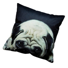 2017 Cute Pug Pet Dog black and white home decor sofa Pillow Cushion pillowcase Car linen cushion Decor