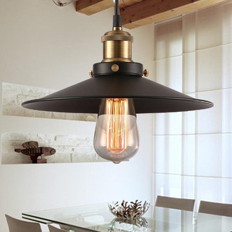 Free shipping Retro Countryside vintage pendant lights Painted Iron Pendant lamp  e27 Edison Bulb vintage pendant lighting<br><br>Aliexpress