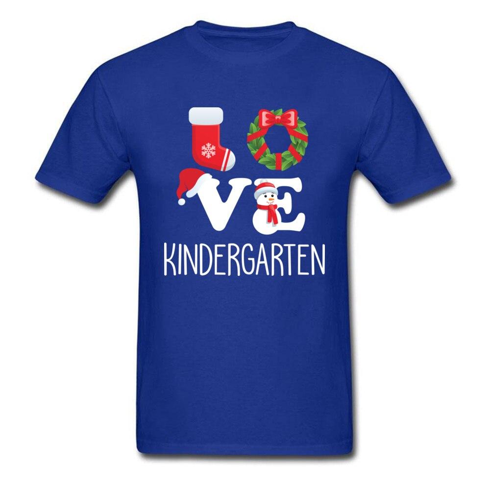 Love Kindergarten Shirt Teacher Christmas Gift_blue