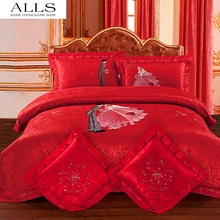 high quality bedding sets super soft and luxury wedding bedding set bedclothes/bed linen/bed cover new 2014 queen king size