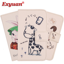 Exyuan Cell Phone PU Leather Flip Case Wallet Style Dirt-resistant Cover For Digma VOX A10 3G 4.2''(China)