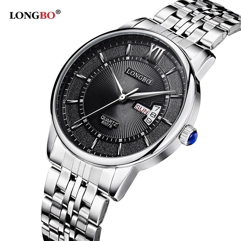 LONGBO Brand Top Luxury Full Steel Men Watches Men Business Watch Auto Date 3ATM Waterproof Quartz Relogio Masculino 80079<br><br>Aliexpress