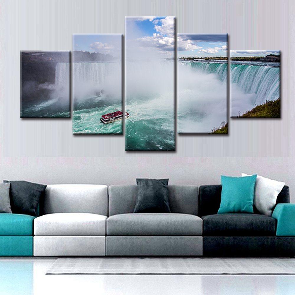 E Niagara Falls Nightview Art Print Home Decor Wall Art Poster