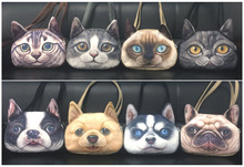 LargeSize New Designed High quality Synthetic leather Cartoon 3D Printing Female Shoulder Bags cat Shape Women Handbag,SKU03131R