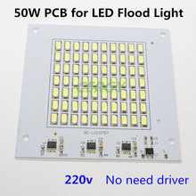 2pcs/lot 50W ac220v led PCB SMD5730 integrated IC driver Driverless led flood light source module for floodlight led lamps chip(China)