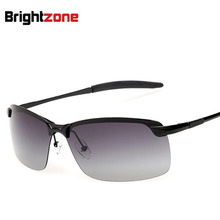 Polarized Light Mirror Male Half Frame Gradual Change Sunglasses Classic Fashion Polarized Light Sunglasses oculos de sol gafas