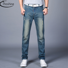 Thoshine Brand 2018 Spring Autumn Winter Men Retro Designed Jeans Male Vintage Style Denim Pants Adult Full Length Trousers(China)