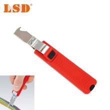 LY25-6 wire stripper knife PVC,rubber,PTFE silicone 8-28mm cable stripping knife mini electrician knife(China)
