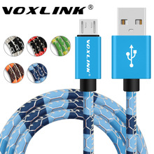 5V2A Micro USB Cable,VOXLINK Fast Charging Mobile Phone Cables PU Leather Data Sync USB Charger Cable for Samsung HTC LG Android(China)