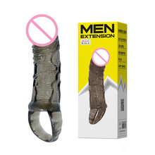 Buy Baile Realistic Glans Reusable Condoms cock cage Penis Sleeve Extender, Enlargement Extension Condom Penis Ring Sex Toys Men