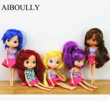 New style STRAWBERRY SHORTCAKE chilren child girl toy best gift 15cm doll 1pcs cake Decorate doll(China)