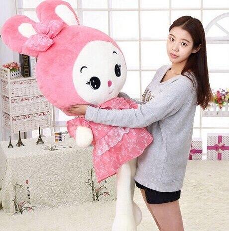 80 CM 2015 new arrived girl stuffed plush toys cushion pillow doll dress princess rabbit WJCX baby child Birthday children gift<br><br>Aliexpress