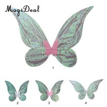 MagiDeal Shiny Color Changing Butterfly Angel Fairy Wing Children Adult Halloween Party Fancy Dress(China)