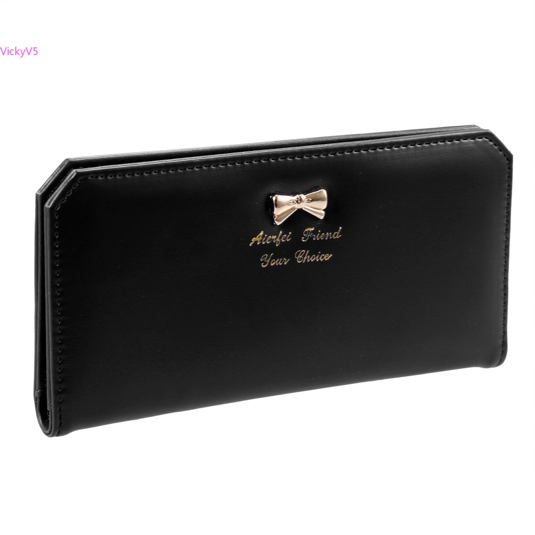 Han edition fashion lady long supply 16 card package small pure and fresh and ultra-thin bow wallet wallet  VY SV017091<br><br>Aliexpress