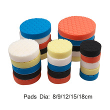 5Pcs 3/4/5/6/7 Inch Hexagonal Corner Diamond Ripple Point Screw Thread Washing Cleaning Polishing Sponge Buffer Pad For Car Hot