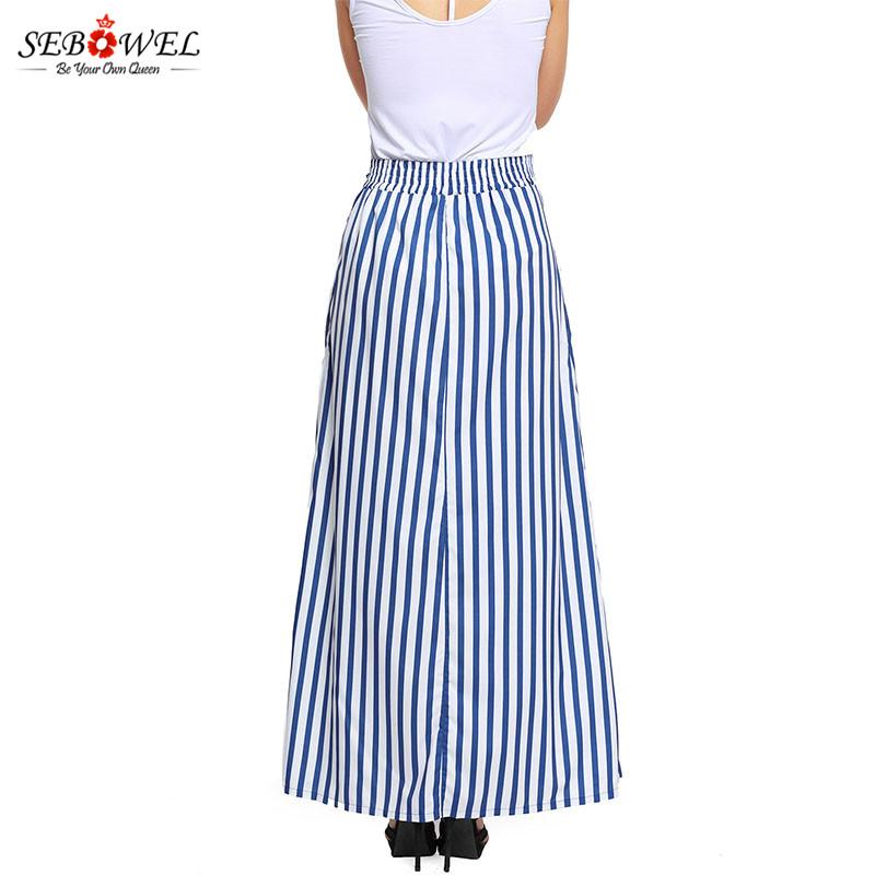 Light-Blue-Striped-Maxi-Skirt-LC65037-4-4