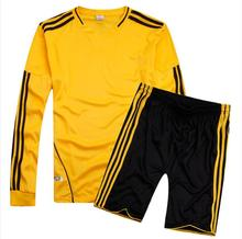 Wholesale for Adult Long sleeve Soccer Jerseys Football Sportswear Quick Dry Short-Sleeve Training Shirt