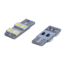 2X w5w T10 4 LED 5050 SMD ERROR FREE Canbus Nightlight ODB 360 White XENON lights