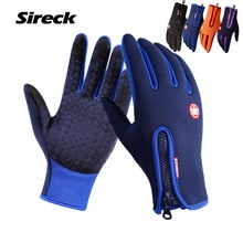 Buy Sireck Winter Thermal Cycling Gloves Men Women Full Finger Windproof Warm Sport Gloves Touchscreen Road MTB Bicycle Bike Gloves for $7.84 in AliExpress store