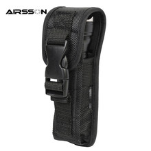 Outdoor Hunting Small Size Portable Flashligtht Pouch Tactical Combat Molle Nylon Electronic Torch Waist Bag Flashlight Holster