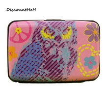 1 pcs Kawaii Owl Pockets Plastic Box Design Card Holder Credit Bank Card Case Business Card Storage(China)