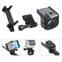 SOONSUN 3 in 1 Smart Mount for Fixing GoPro and Cell Phone onto Monopod Pole,Can be used to fix Gopro Hero 4 3 WiFi Remote
