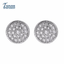 New fashion south Korean round miniature set of zircon earrings Suitable for all kinds of female communication jewelry ER-081