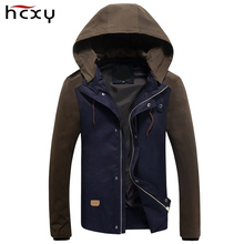 Mens Jacket 2017 Spring New Arrival Casual Hoodies jacket men Patchwork Slim Fashion work mens jackets and coats size M-5XL(China)