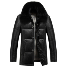 Men down coats Fox fur collar thickening Winter Jackets Padded collar down jackets New Arrival Down & Parkas