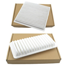 Car Engine Air Filter + Cabin Air Filter 17801-00010 87139-YZZ07 For Toyota Corolla Matrix 2003-2008 Replacement Auto Protector(China)