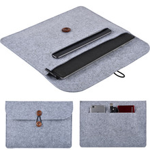 2017 Fashion Wool Felt Laptop Sleeve Bag for Microsoft Surface Pro3 /Pro4 Tablet Case Cover for Surface 3 Notebook Carry Bag+Pen(China)
