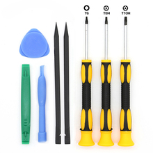 Buy 8Pcs Repair Tools Kit T6 T8H T10H Torx Screwdriver Set Spudger Pry Tool Xbox One Xbox 360 Controller PS3 PS4 for $4.99 in AliExpress store