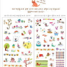 JETTING New PC Mobile Phone Stickers Decor Laptop Skin Decorative Diary Stickers Cartoon Animal DIY Transparent Sticker Toy(China)